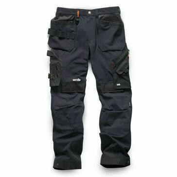 Scruffs Pro Flex Plus Holster Trousers - Black (Regular)