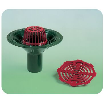 Caroflow 75mm Vertical Spigot Flat Roof Drainage Outlet (Dome Grate)