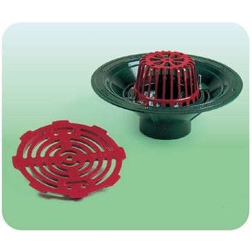 Caroflow 75mm Vertical Threaded Flat Roof Drainage Outlet (Dome Grate)
