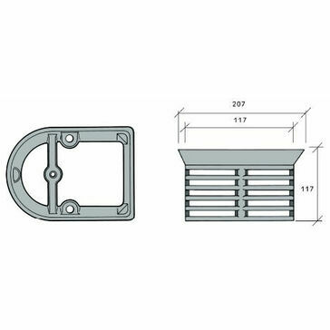 Caroflow Extension Ring For Balcony Drainage Outlets