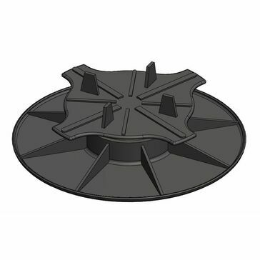 Carosystems Caro Pedestal Adjustable Base With Support Plate For Paving To Suit Heights: 32-50mm Bag Of 50