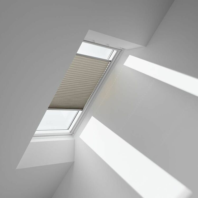 Velux Pleated Blinds For Flat Roof Windows In Lovely Latte