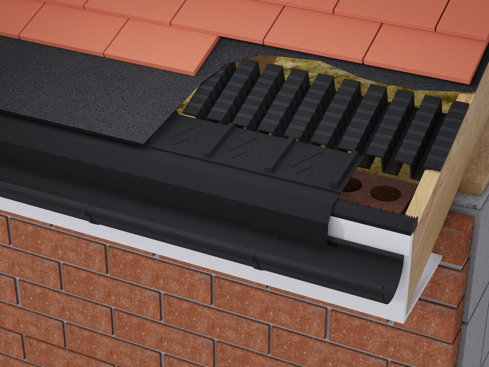 3 In 1 Eaves Vent Pack 10mm Airflow 6m 300mm Roll Out