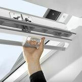 Velux White Painted Double Glazed Centre Pivot 70Q Pane Roof Window - GGL 2070Q additional 2