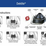 Dektite Combo Roof Pipe Flashing - Grey EPDM (45 - 85mm) additional 2
