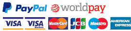 Safe and secure payment with Paypal, Worldpay