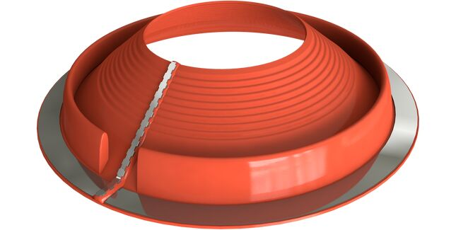 Dektite Retrofit Roof Pipe Flashing - Red Silicone (20 - 70mm)