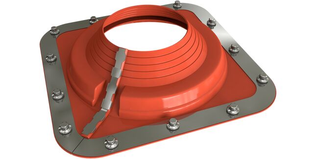 Dektite Combo Roof Pipe Flashing - Red Silicone (350 - 760mm)
