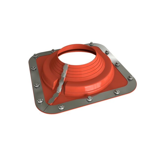Dektite Combo Roof Pipe Flashing - Red Silicone (5 - 127mm)