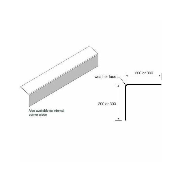 Eternit External corner piece - 200x3000