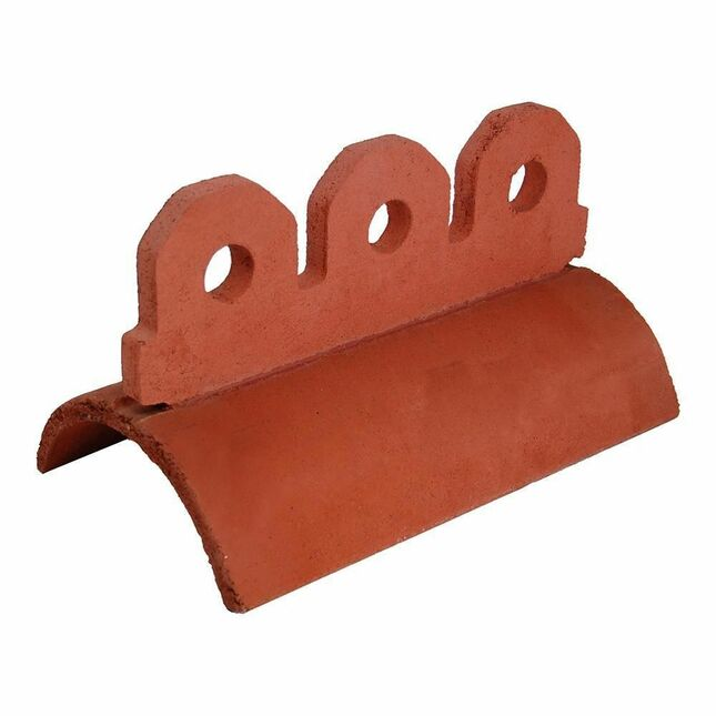 Redland 3 Hole Crested Half Round Ridge Terracotta