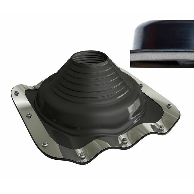 Dektite EZi-Seal Roof Pipe Flashing - Black EPDM (5 - 127mm)